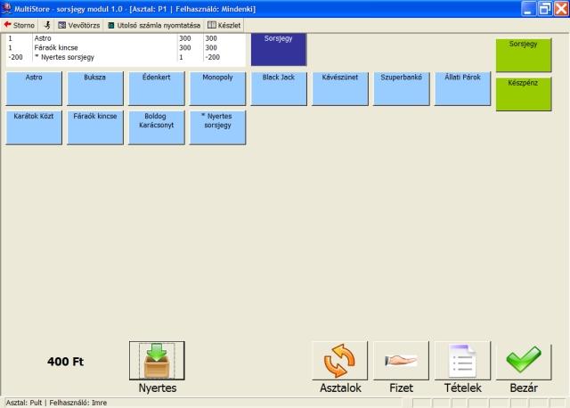 sorsjegy értékesítő szoftver
